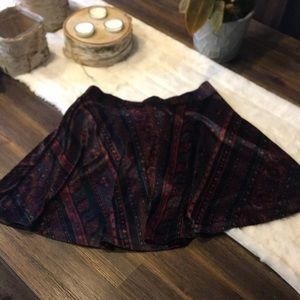 Suede Patterned Skirt